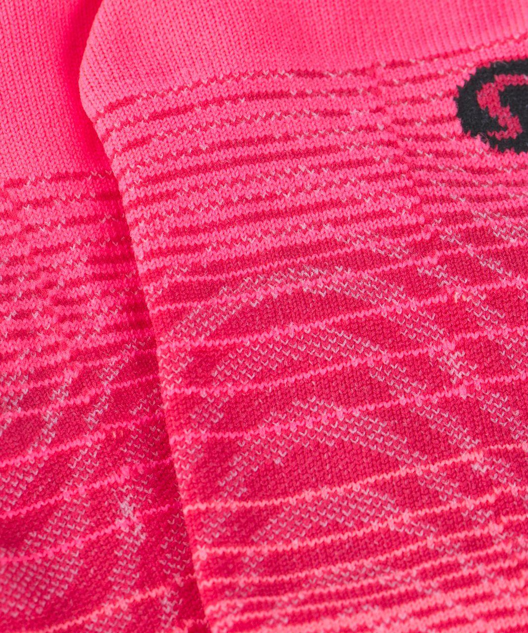 Lululemon Play All Day Sock - Neon Pink / Boom Juice / Grapefruit