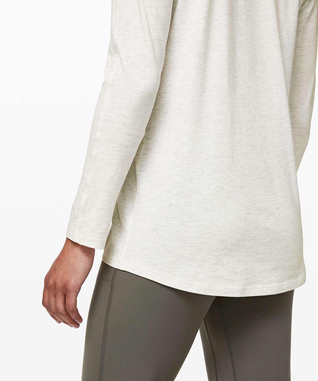 Lululemon Emerald Long Sleeve - Heathered Dove Grey