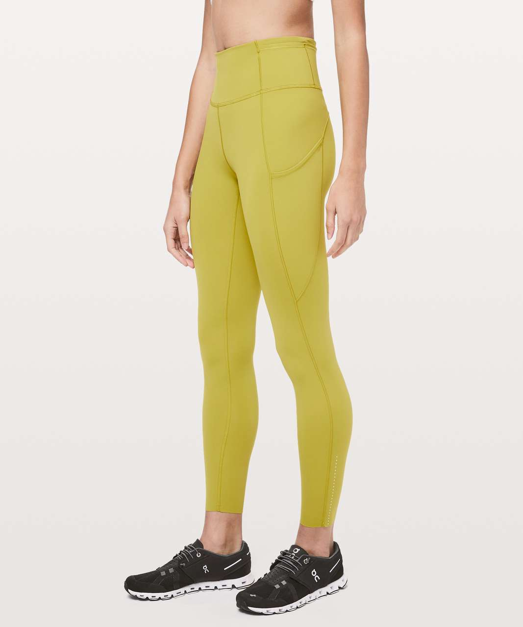 "Lululemon Fast and Free Tight II 25"" *Nulux - Golden Lime"
