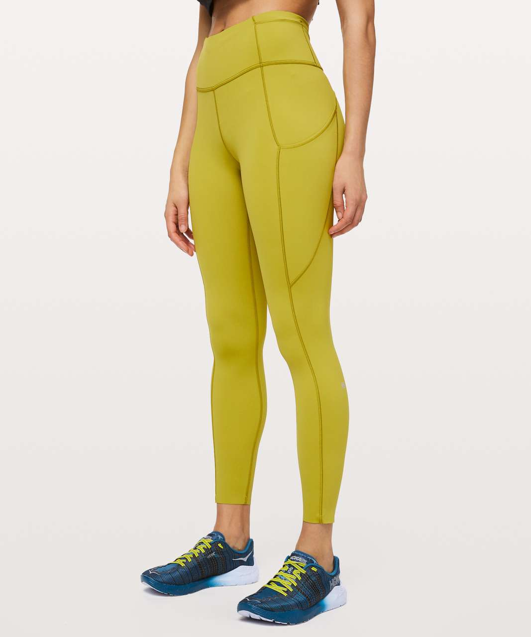 "Lululemon Fast and Free Tight II 25"" *Non-Reflective Nulux - Golden Lime"