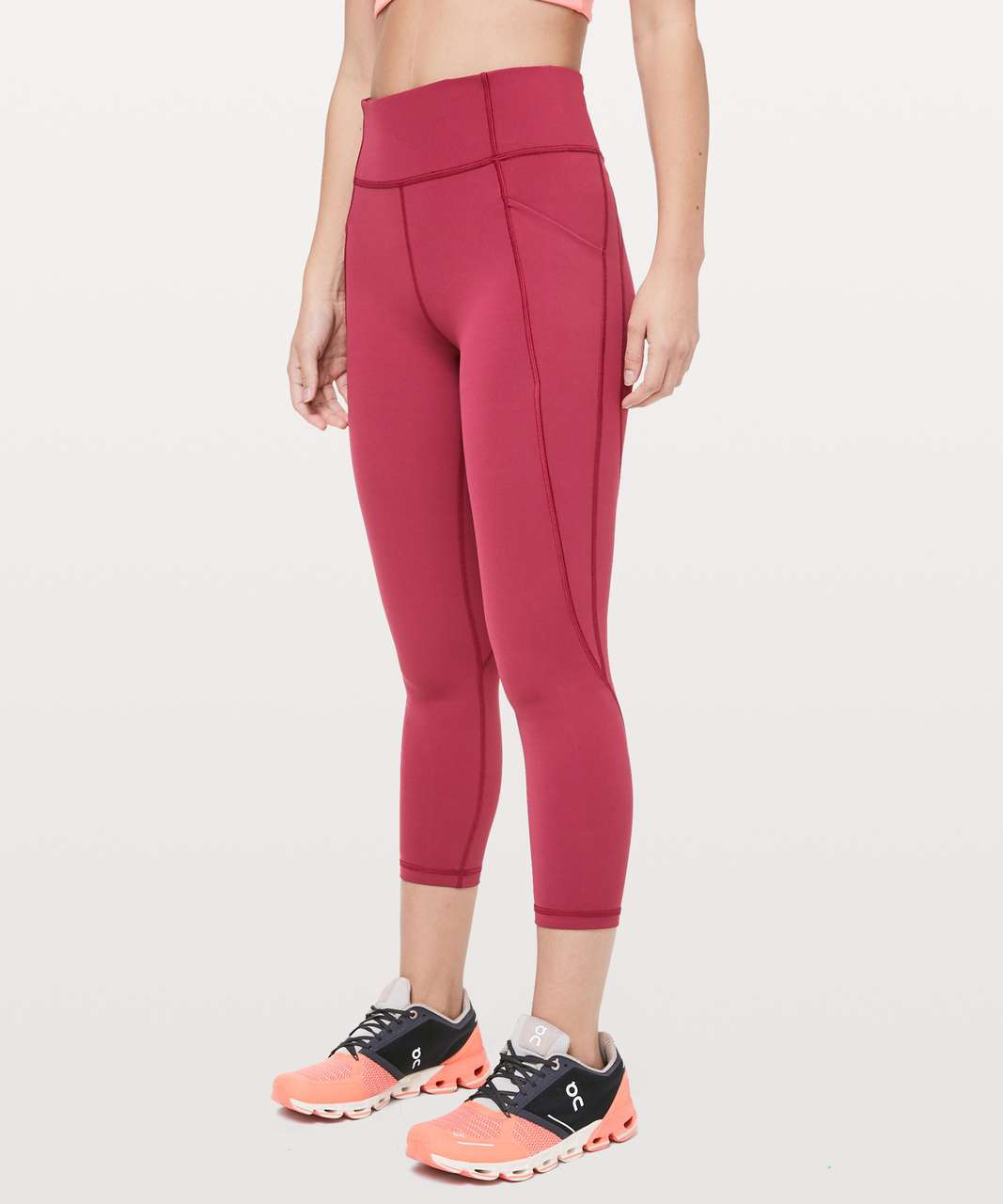 "Lululemon Time To Sweat Crop *23"" - Star Ruby"