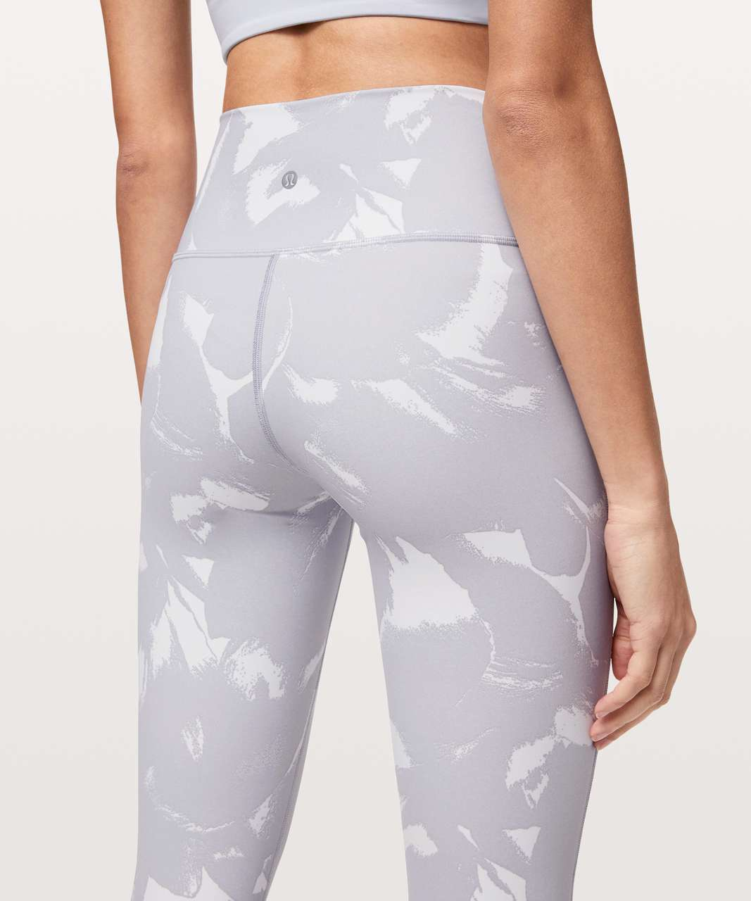 "Lululemon Wunder Under High-Rise Tight 25"" *Full-On Luxtreme - Flower Pop White Silver Lilac"