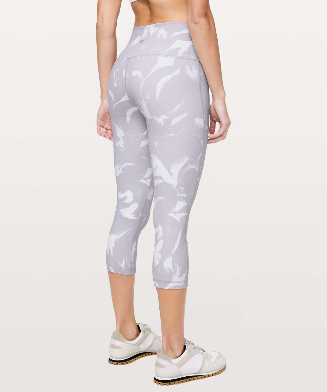 "Lululemon Wunder Under Crop (High-Rise) *Full-On Luon 21"" - Flower Pop White Silver Lilac"