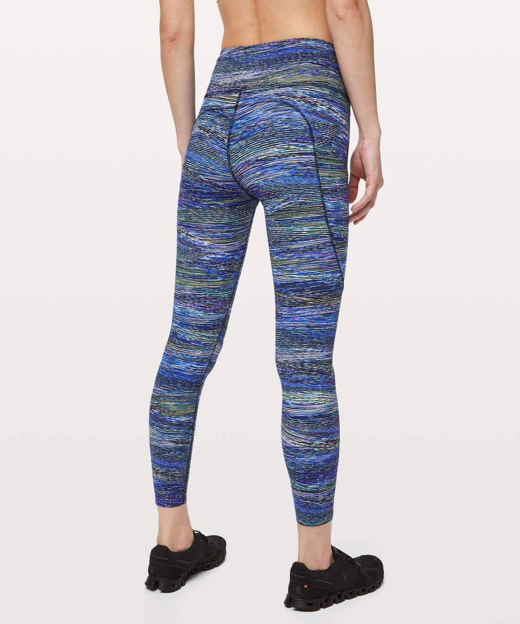 "Lululemon Fast and Free Tight II 25"" *Nulux - Interconnect Blue Multi"