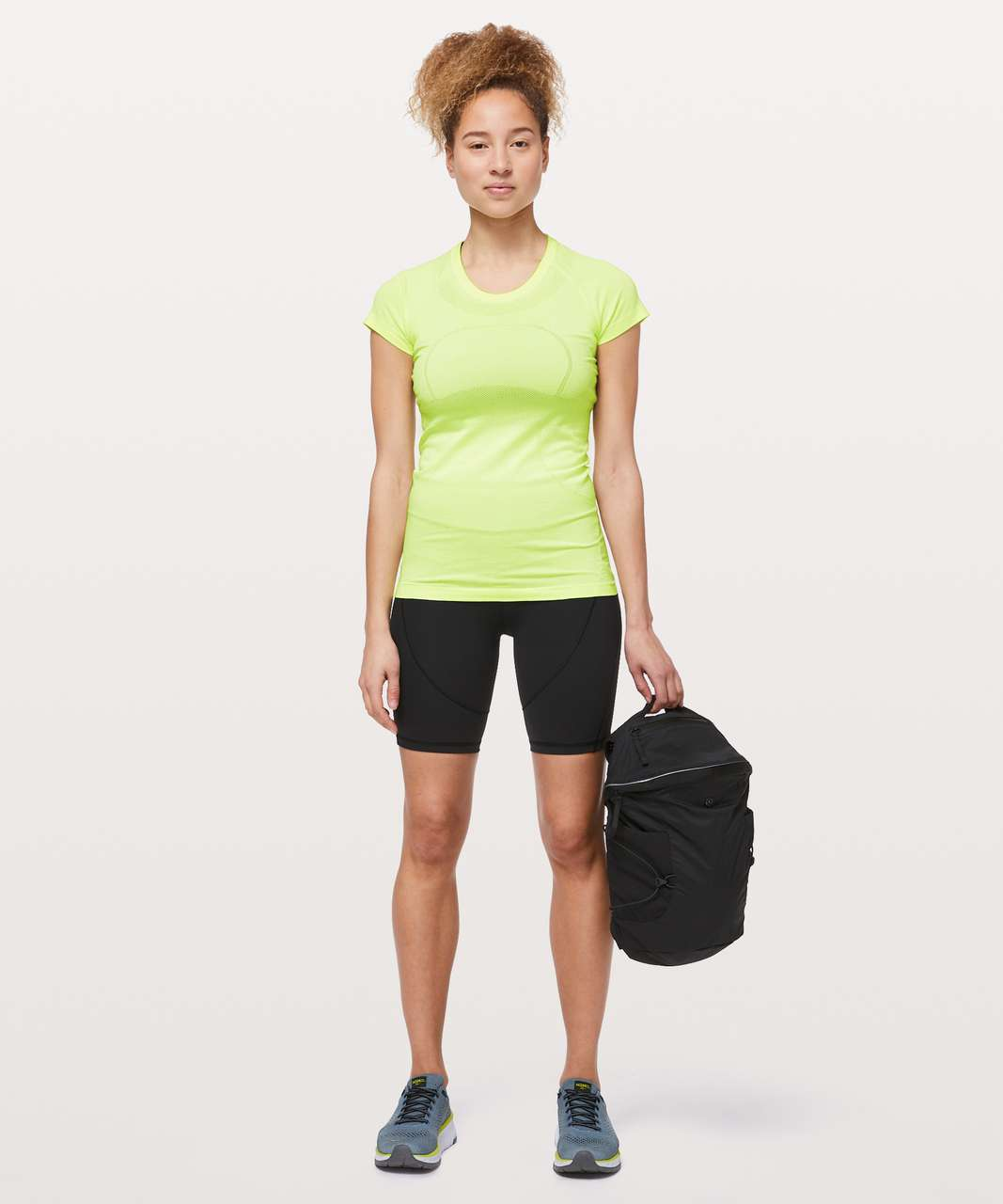 Lululemon Swiftly Tech Short Sleeve Crew - Florid Flash / White