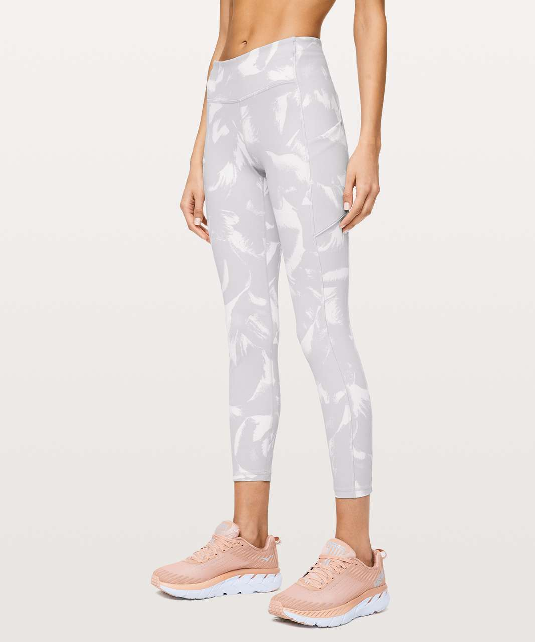 """Lululemon Speed Up Tight 25"""" - Flower Pop White Silver Lilac"""