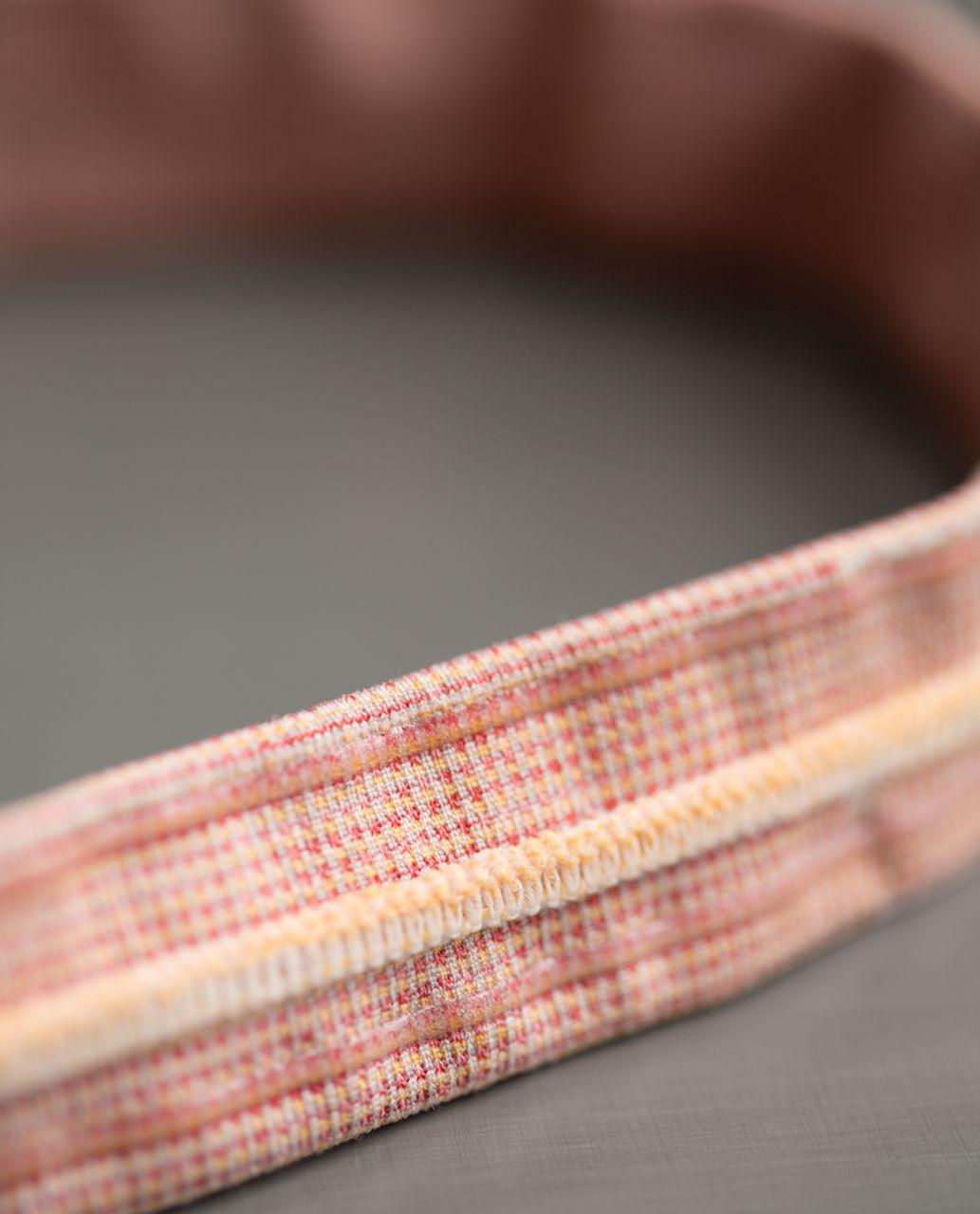 Lululemon Cardio Cross Trainer Headband - Jewelled Magenta / Peach Fuzz
