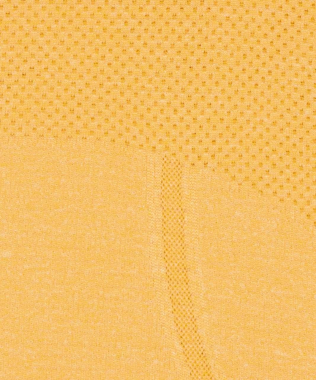 Lululemon Swiftly Tech Long Sleeve Crew - Honey Lemon / White