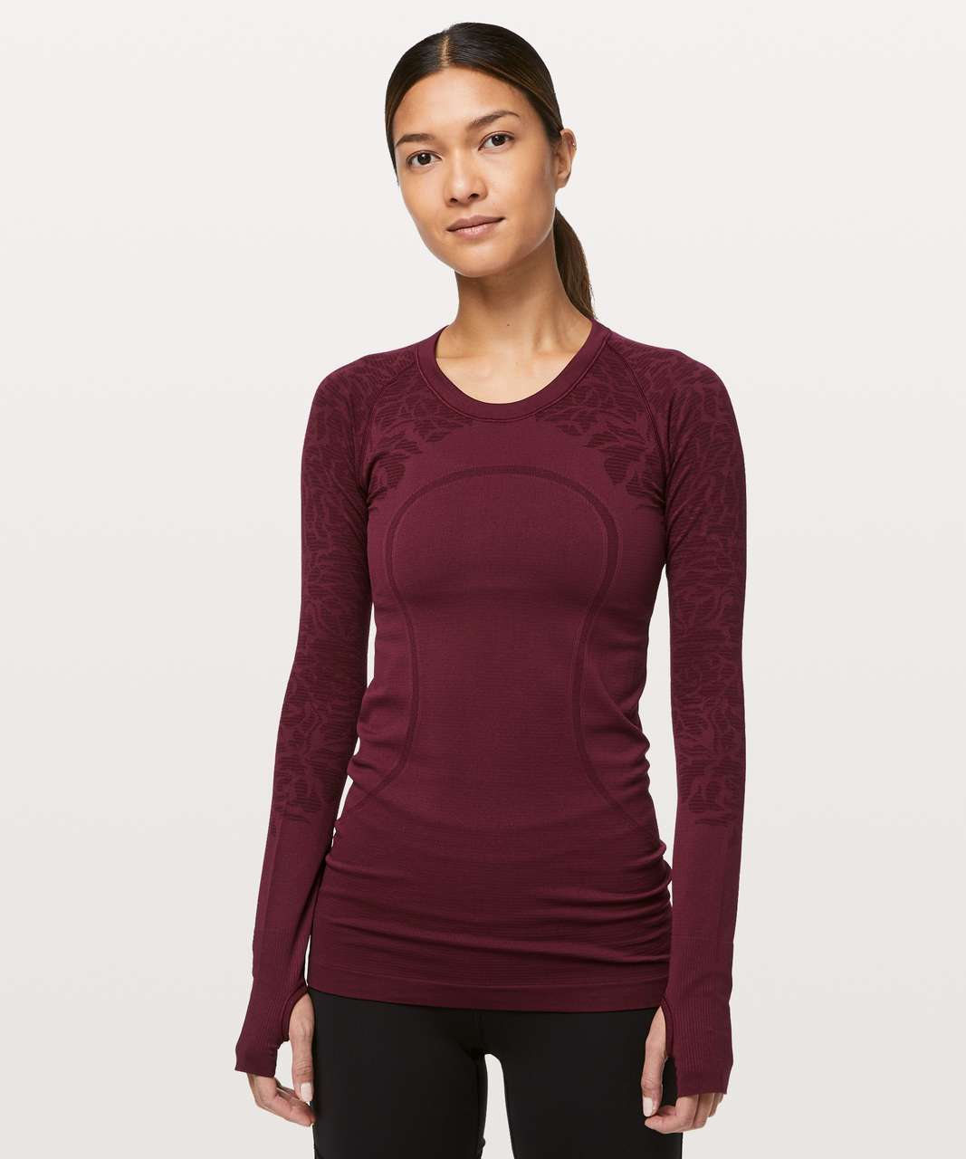 Lululemon Swiftly Tech Long Sleeve Crew - Deep Ruby / Deep Ruby