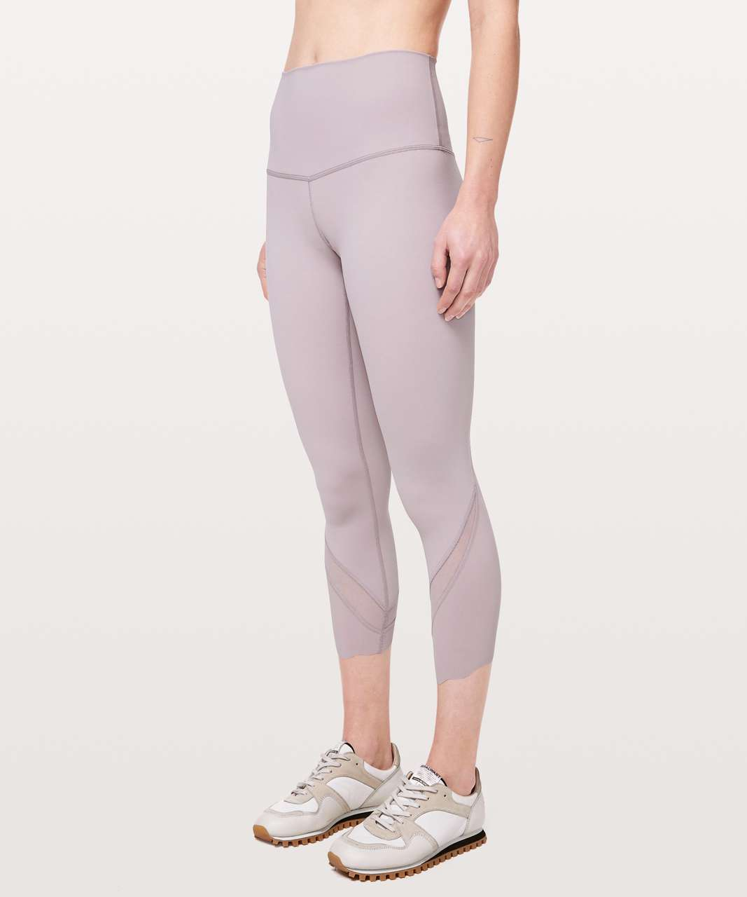 "Lululemon Wunder Under Crop II *Roll Down Scallop Full-On Luxtreme 24"" - Smoky Blush"