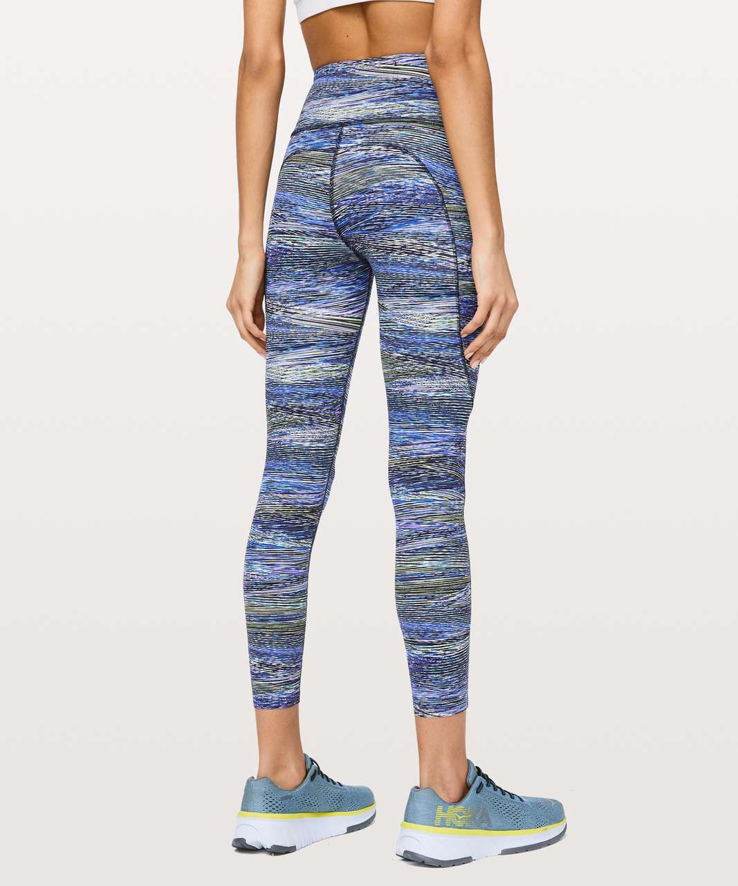 "Lululemon Fast and Free Tight II 25"" *Non-Reflective Nulux - Interconnect Blue Multi"
