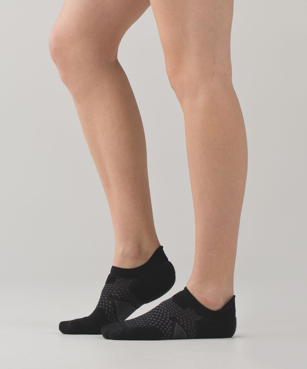 Lululemon High Speed Sock - Black / Silver Spoon