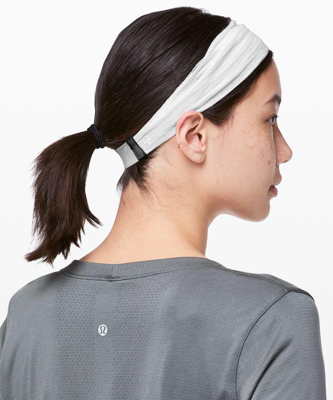 Lululemon Fringe Fighter Headband - Tiger Space Dye Black White / Heathered White