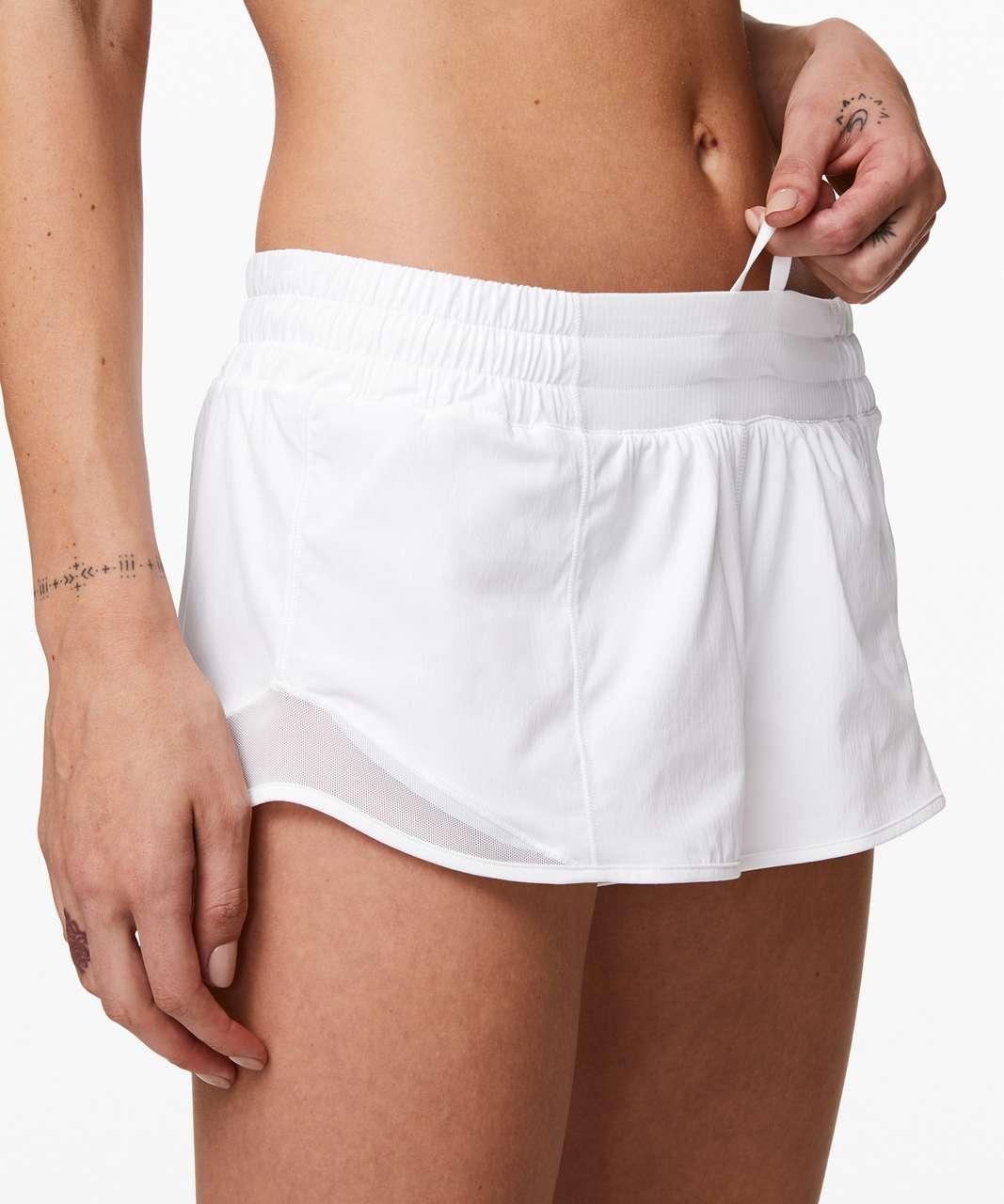 """Lululemon Hotty Hot Short II *2.5"""" - White"""