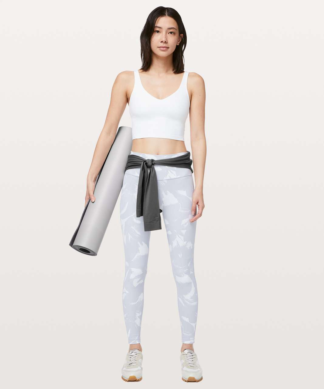 """Lululemon Wunder Under High-Rise Tight 28"""" *Full-On Luxtreme - Flower Pop White Silver Lilac"""