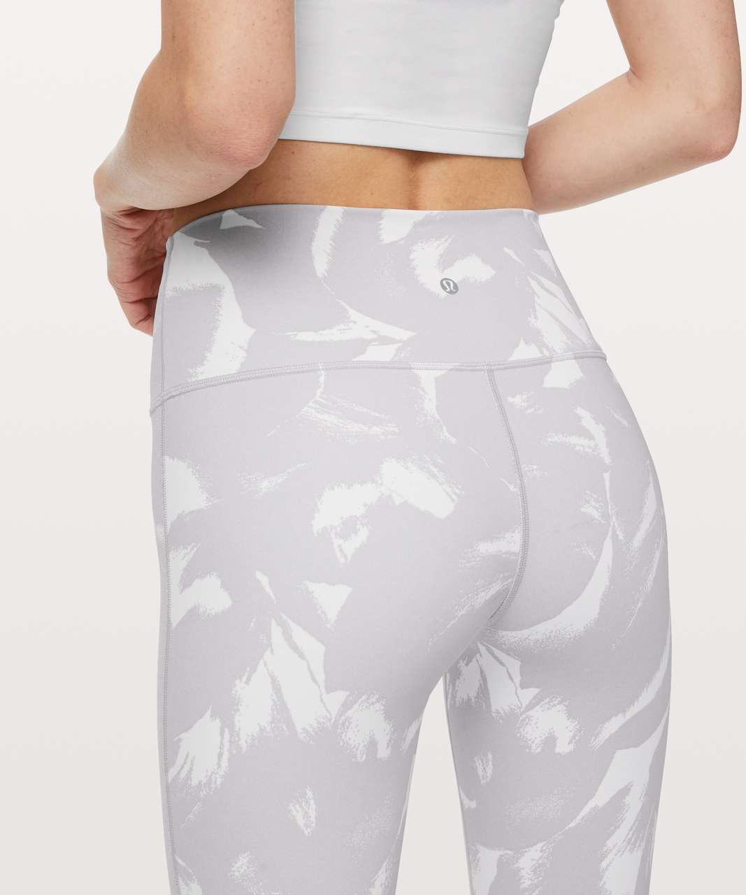 "Lululemon Wunder Under High-Rise Tight 28"" *Full-On Luxtreme - Flower Pop White Silver Lilac"