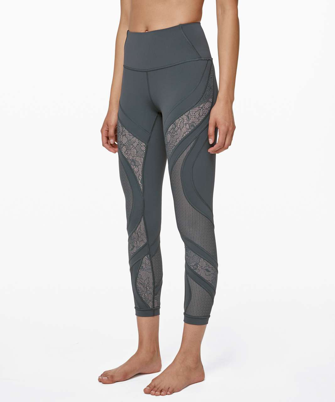 "Lululemon Wunder Under High-Rise Tight 25"" *Lace - Nightcap"