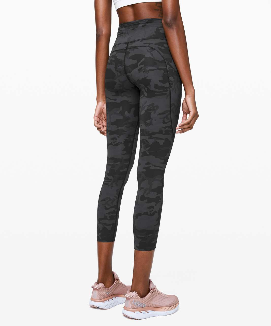 """Lululemon Fast and Free Tight II 25"""" *Nulux - Incognito Camo Multi Grey"""