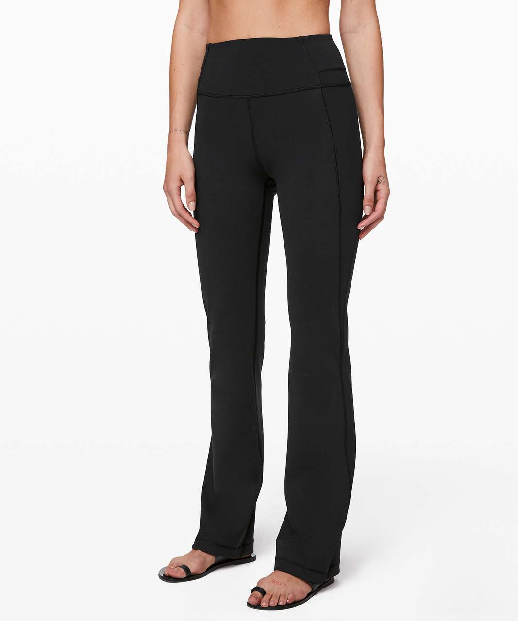 "Lululemon Groove Pant Bootcut 32"" Full-On Luxtreme - Black"