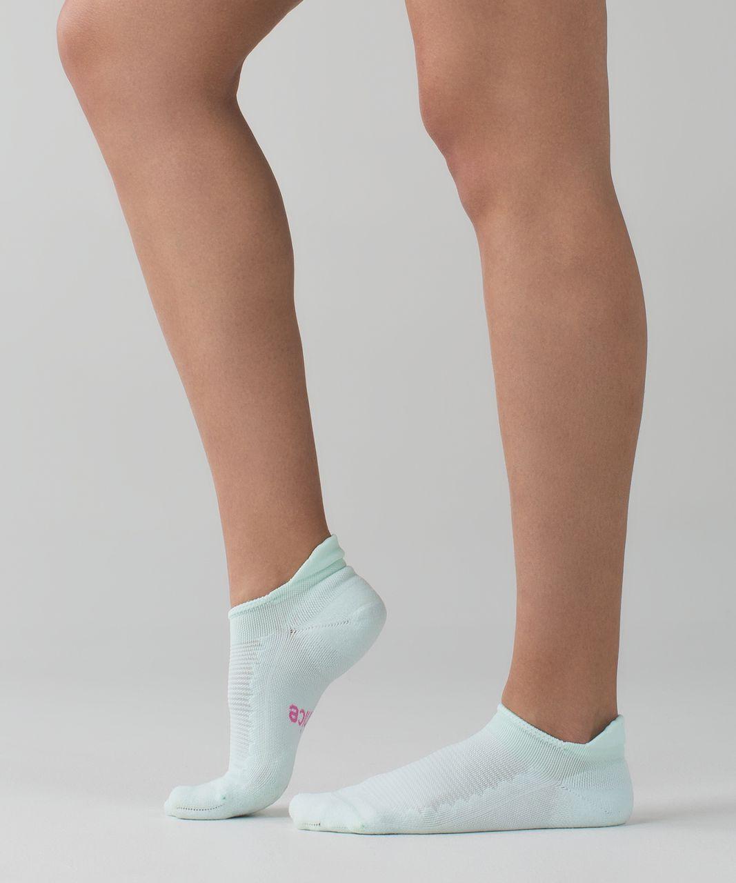 Lululemon Heels High Studio Sock - Sea Mist / Pink Paradise