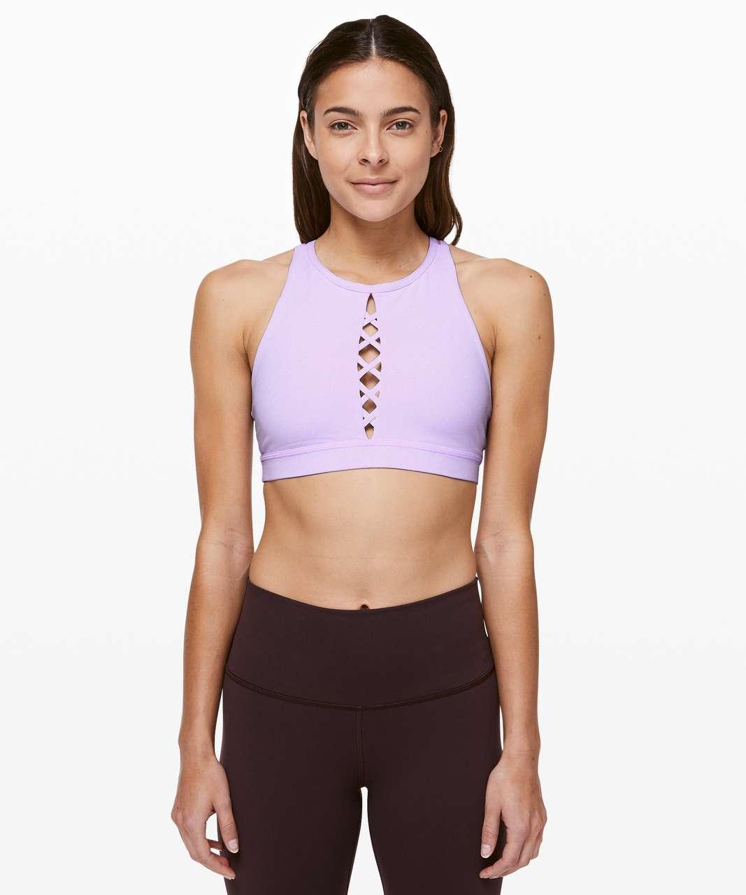Lululemon Energy Bra High Neck *Laced - Sheer Violet