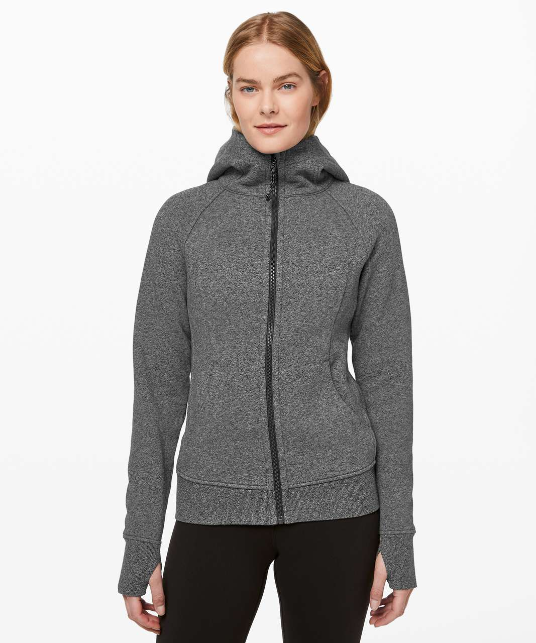 Lululemon Scuba Hoodie *Light Cotton Fleece - Heathered Speckled Black