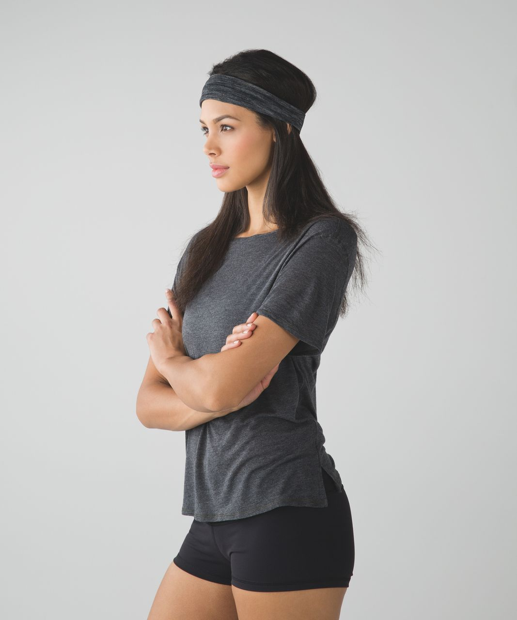 Lululemon Fringe Fighter Headband - Black / Heathered Black (First Release)