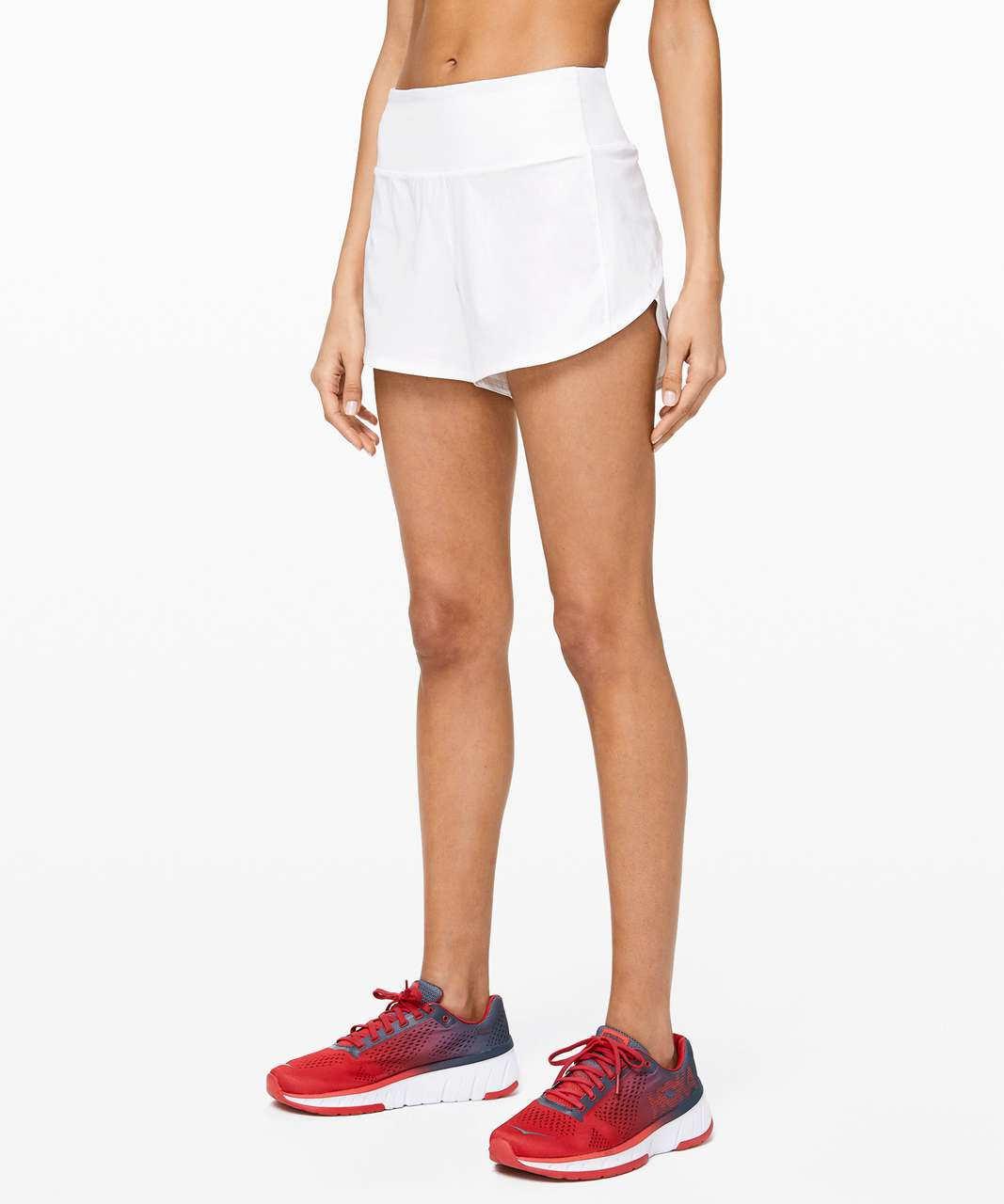 "Lululemon Speed Up Short Long *4"" Updated Fit - White"