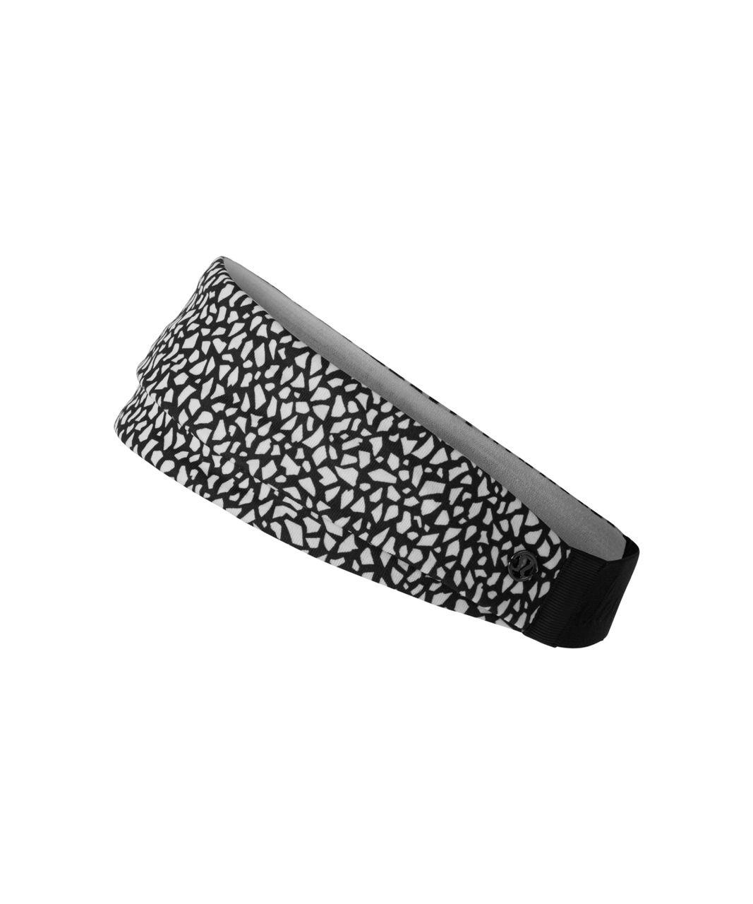 Lululemon Fringe Fighter Headband - Miss Mosaic Black / White / Black