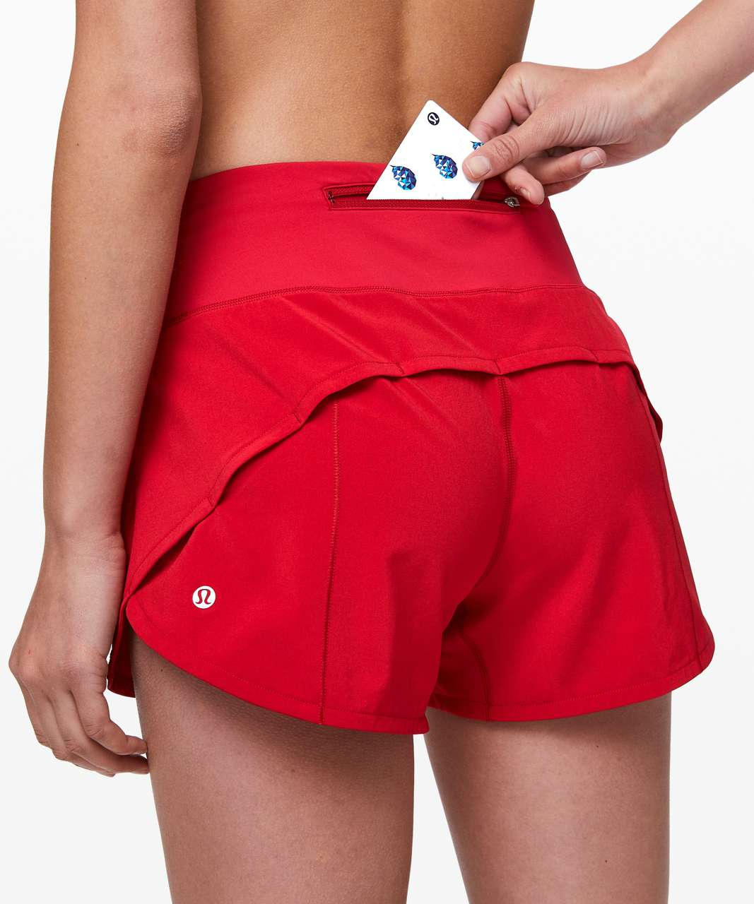 "Lululemon Speed Up Short Long *4"" Updated Fit - Flamenco Red"