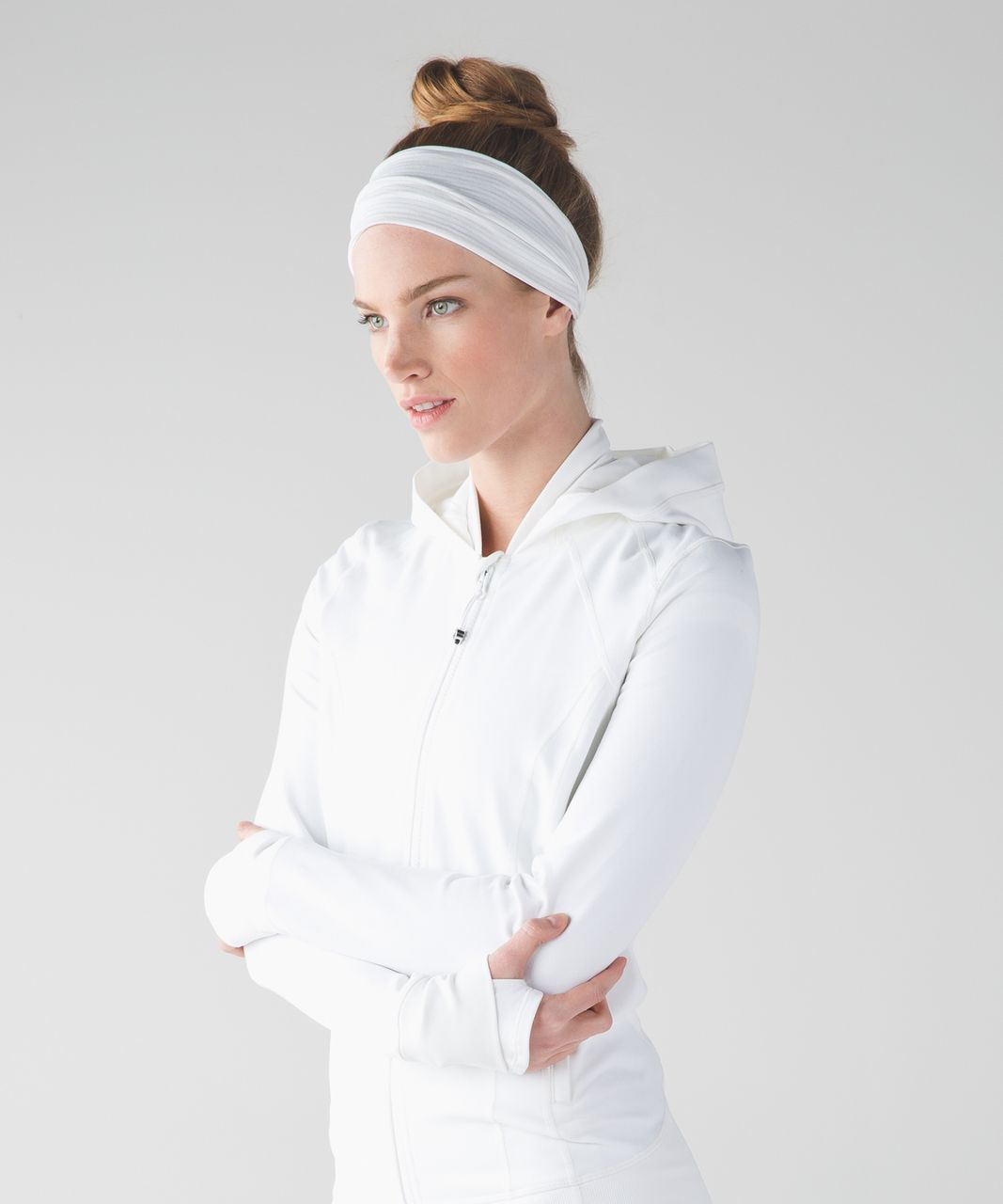 Lululemon Fringe Fighter Headband - White / Heathered White