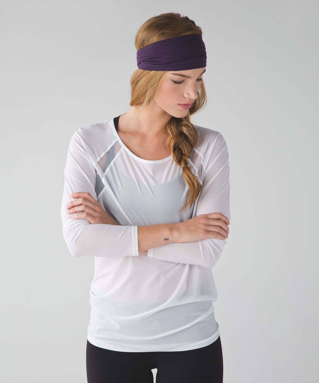Lululemon Fringe Fighter Headband - Deep Zinfandel   Lilac - lulu fanatics b1d90b974be