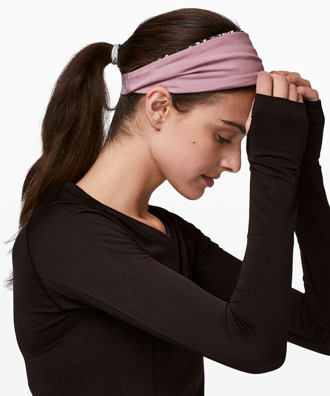 Lululemon Fringe Fighter Headband - Floral Spritz Multi / Vintage Mauve
