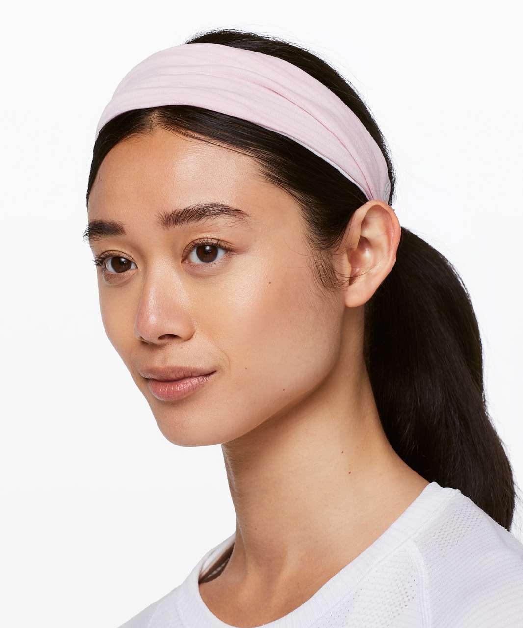 Lululemon Fringe Fighter Headband - Heathered Dusty Pink / Heathered White