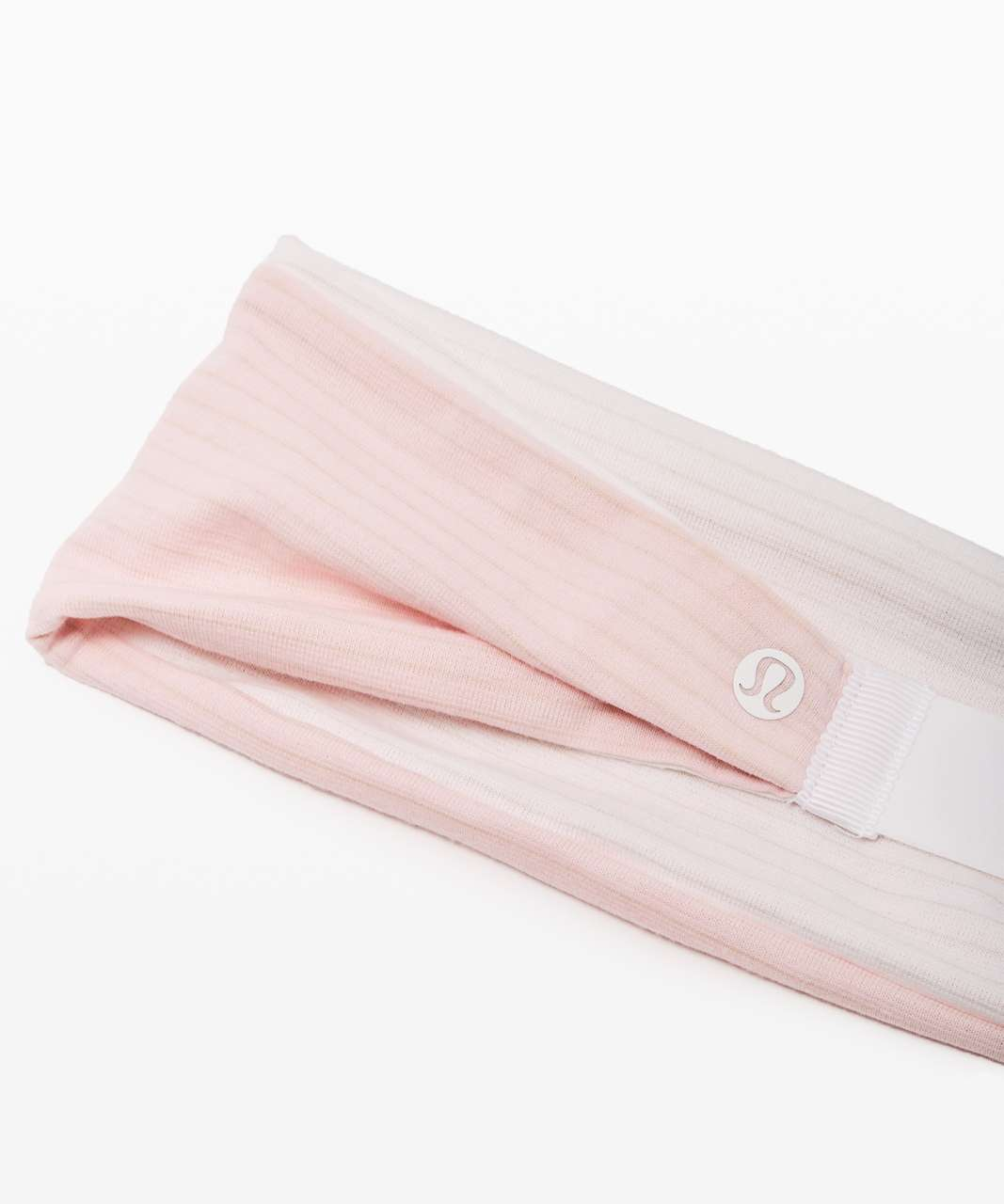 Lululemon Fringe Fighter Headband - Heathered Dusty Pink / Heathered White