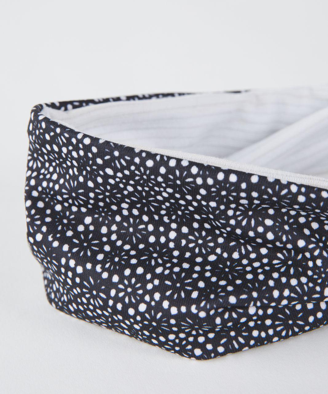 Lululemon Fringe Fighter Headband - Freckle Flower Black White / Heathered White