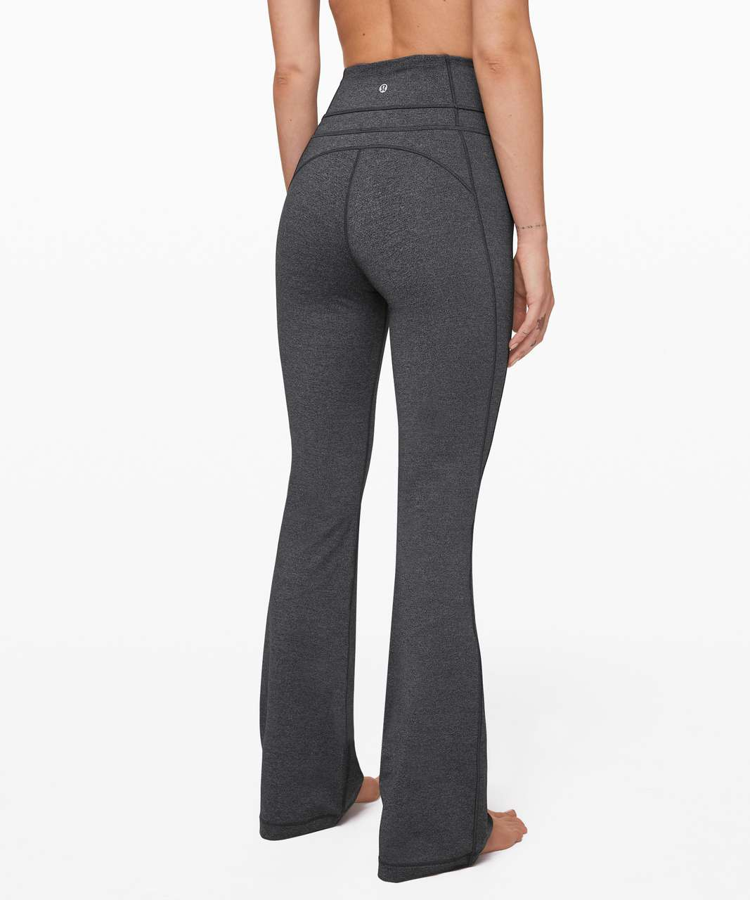 "Lululemon Groove Pant Flare 32"" - Heathered Black"