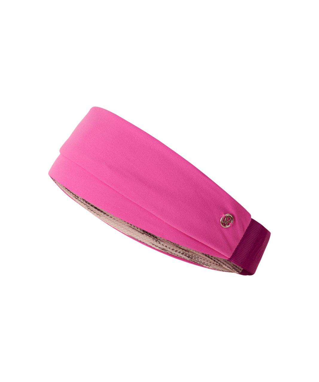 Lululemon Fringe Fighter Headband - Pink Paradise / Tiger Space Dye Black White / Regal Plum