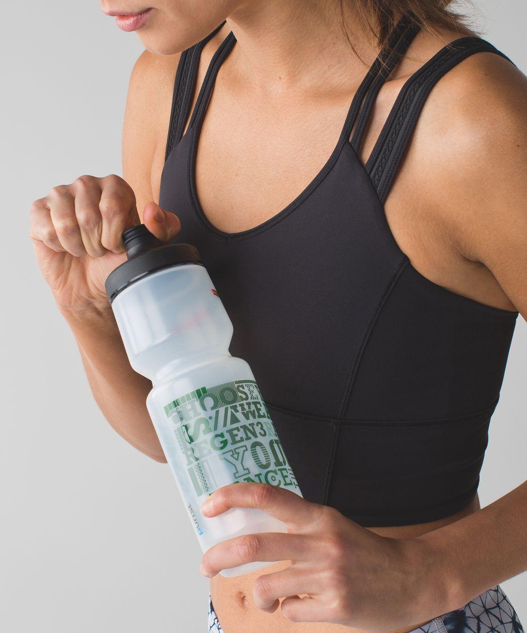 Lululemon Purist Cycling Water Bottle *26 oz - Geo Manifesto Fatigue Green Alarming