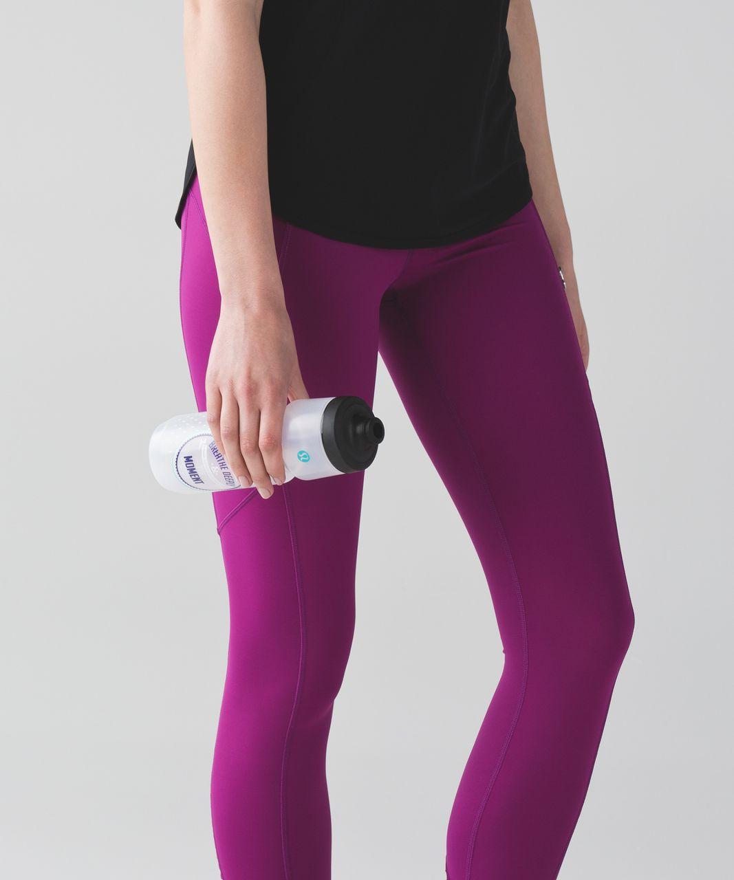 Lululemon Purist Cycling Waterbottle - Breathe Deeply Dottie White Stony Grape