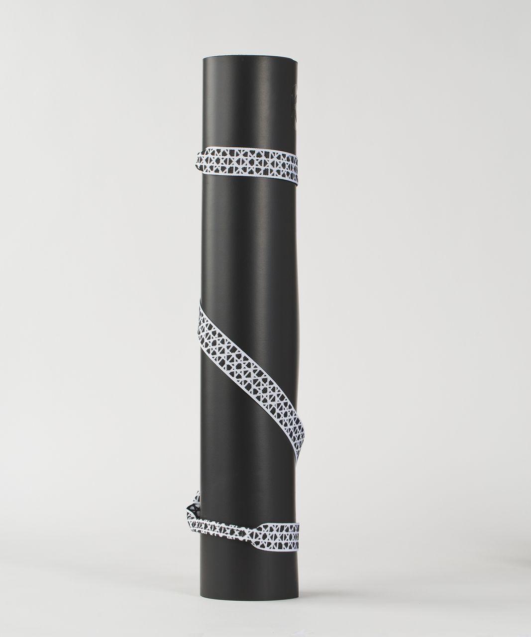 Lululemon Loop It Up Mat Strap - Black / White