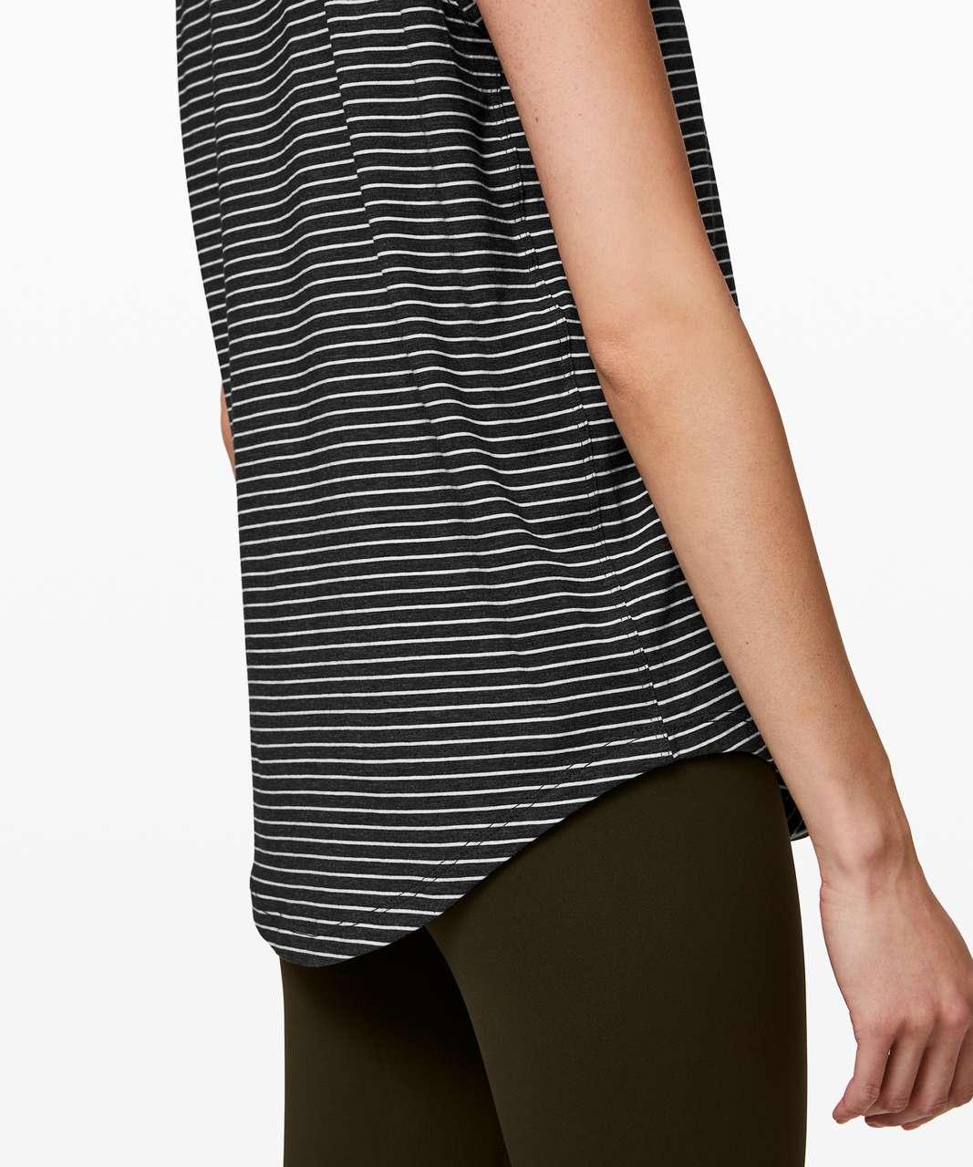 Lululemon Brunswick Muscle Tank - Modern Stripe Heathered Black White