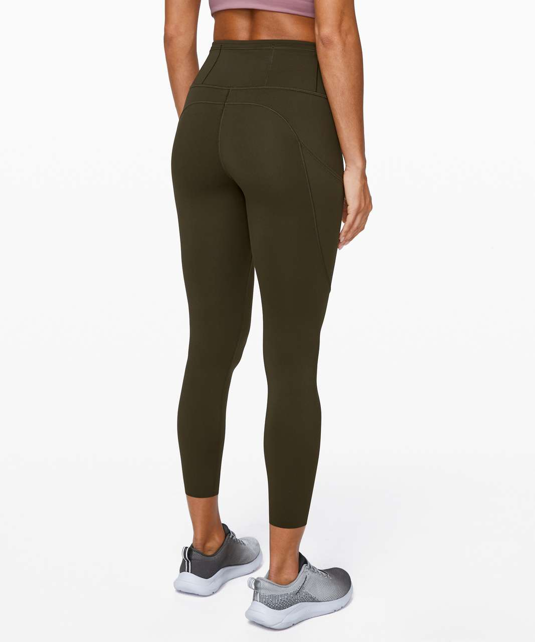 "Lululemon Fast and Free Tight II 25"" *Non-Reflective Nulux - Dark Olive"