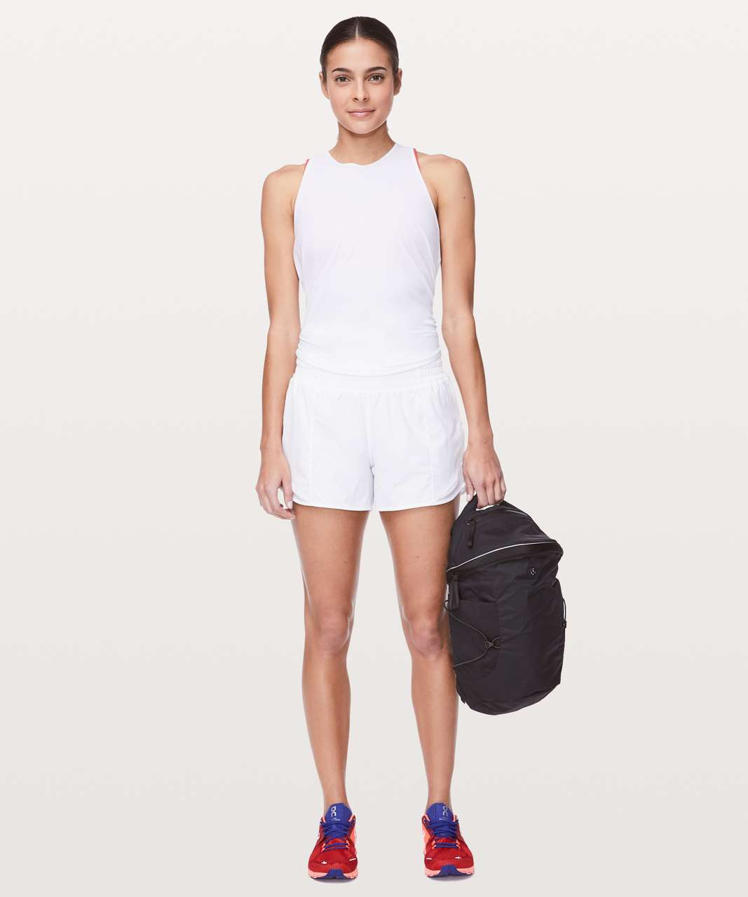 "Lululemon Hotty Hot Short *High-Rise Long 4"" - White"