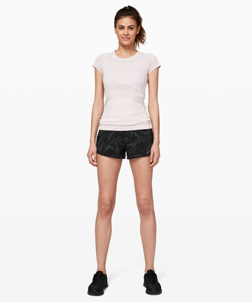 "Lululemon Hotty Hot Short II *2.5"" - Incognito Camo Multi Grey / Black"