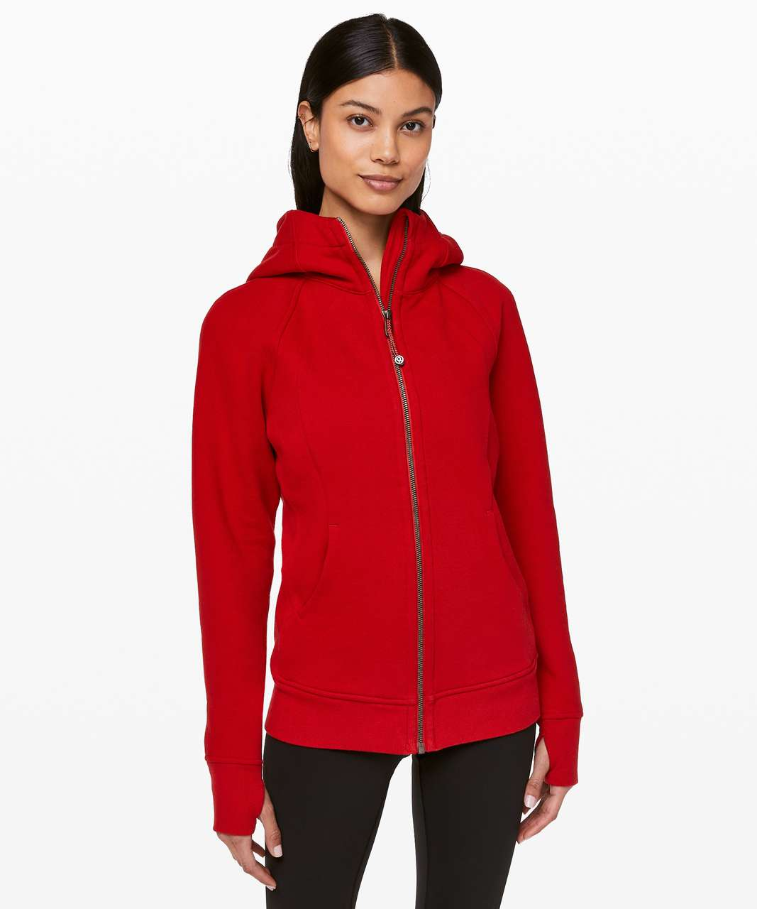 Lululemon Scuba Hoodie *Light Cotton Fleece - Dark Red