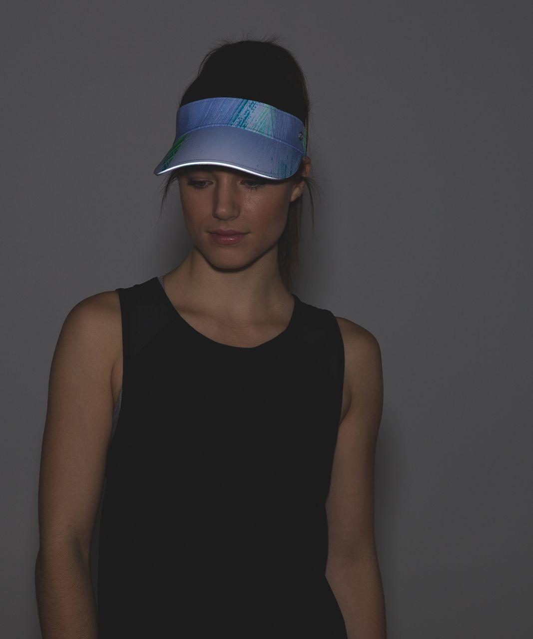 Lululemon Fast Paced Run Visor - Wind Chill White Lullaby / Lullaby