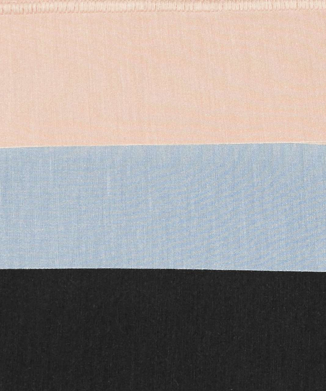 Lululemon Mula Bandhawear Thong *3 Pack - Chambray / Crepe / Black