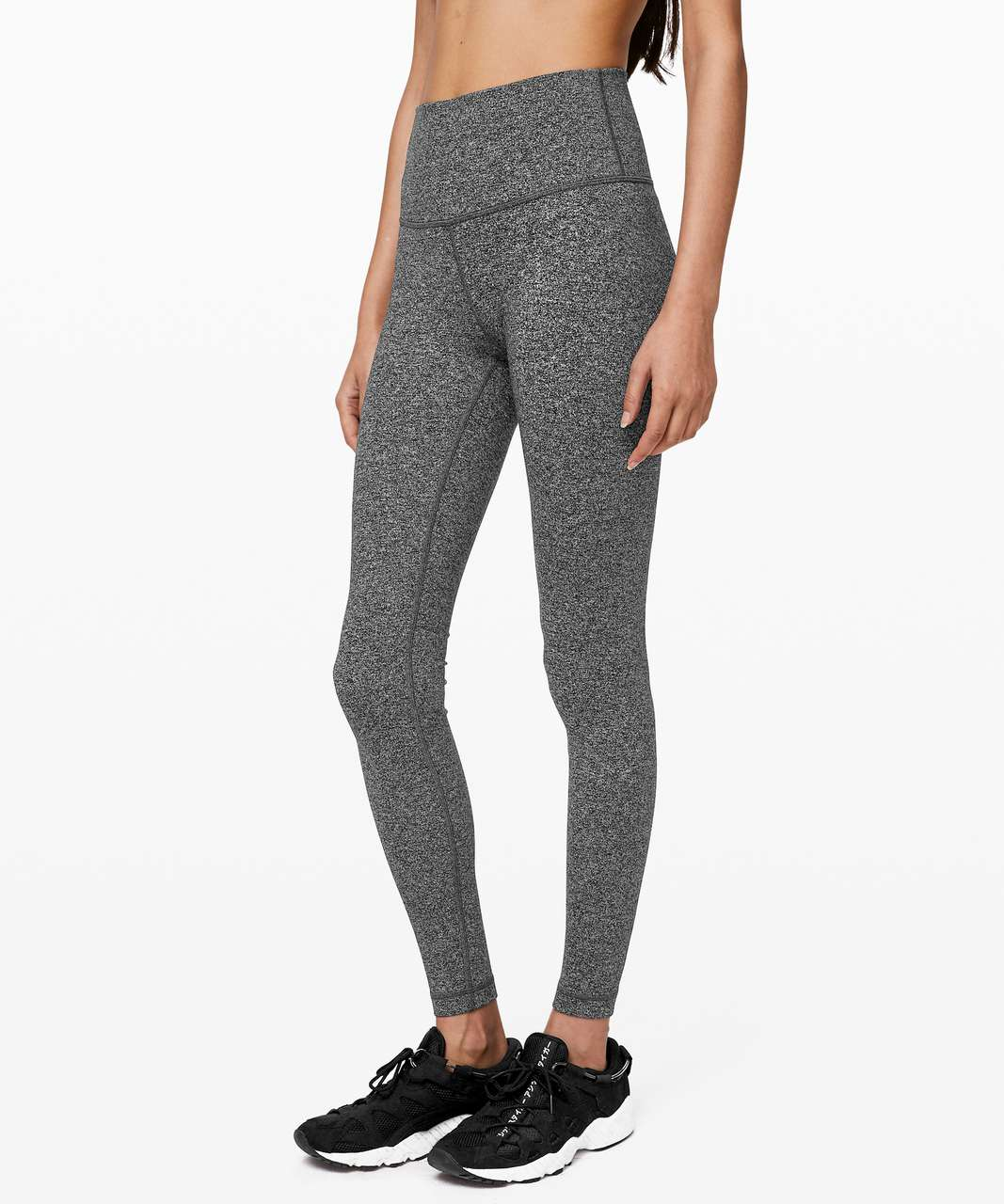 "Lululemon Wunder Under High-Rise Tight 28"" - Heathered Black"