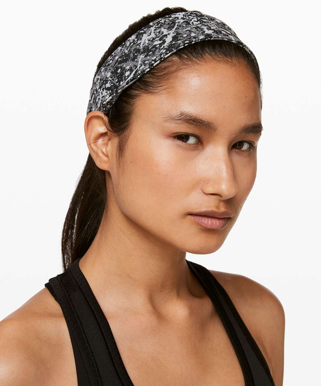 Lululemon Fly Away Tamer Headband II - Paint Splash Silver Drop Multi